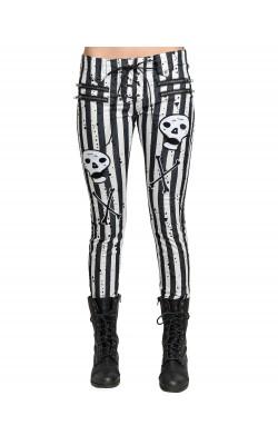 Moto Jeans Stripe Skull