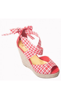 Poppie Gingham Red