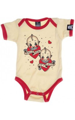 Smile Now Kewpie Onesie